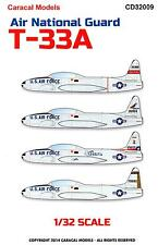 Caracal Decals 1/32 LOCKHEED T-33A SHOOTING STAR AIR NATIONAL GUARD