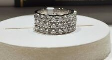 18CT WHITE GOLD RING 2.20CT FVS DIAMONDS HALF ETERNITY DRESS RING GOY226