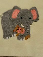 Personalized Embroidery Baby Blanket Elephant