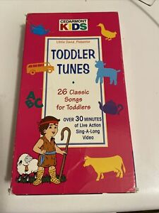 Toddler Tunes 25 Classic Songs VHS Cedarmont Kids