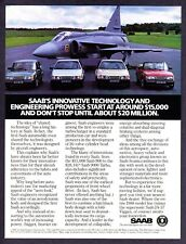 1988 Saab 900 Series Car Models & JA-37 Viggen Jet Plane photo vintage print ad