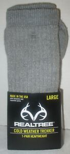 NIP Realtree cold weather trekker heavyweight socks size large unisex 9-12 10-12