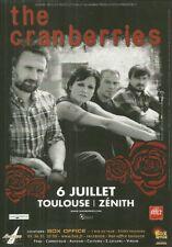 FLYER PLV - THE CRANBERRIES : CONCERT LIVE 2012 TOULOUSE ( FRANCE )