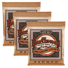 3 Sets Ernie Ball 2146 Acoustic Guitar Strings Regular Slinky 12-54 3 Pack