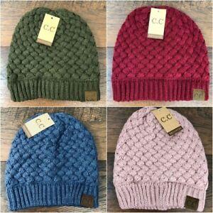 C.C Beanie Basket Weaved Ribbed Knit Hat Cap