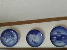 Vintage, Antique, Wall Plates, Copenhagen, Porcelain, Made in Denmark
