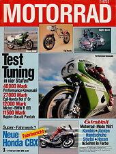 Motorrad 3 1981 Egli Honda 1100 Michel BMW R100 Maico MC490 Yamaha PW50 Pantah