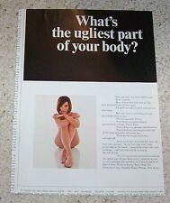 1967 print ad - Pretty Feet Sexy nude girl vintage Chemway advertising ADVERT