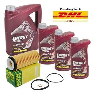 8L Mannol 5W30 LL ÖL MANN Ölfilter HU720/3x BMW 3er E90 5er F10 7er F01 X5 E70