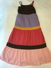 Gymboree Girls 12 Glamour Safari Tiered Maxi Sundress Summer Dress Colorblock