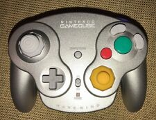 Official Genuine Nintendo Gamecube Silver Wavebird Controller NO RECEIVER VG Wii
