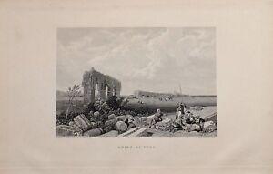 1885 PRINT RUINS OF TYRE
