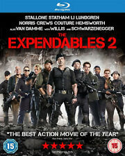 THE EXPENDABLES 2 BLU RAY Sylvester Stallone Jason Statham Original UK New R2