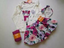 NWT NEW 4T 4 Gymboree Back to Blooms Tee Skirt Tights Headband 4Pcs