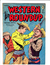 "Western Roundup No 6   1957  -Austrailian  -""Three Man Fight  Cover ! """