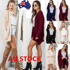 Women Loose Knitted Long Sleeve Cardigan Sweater Coat Jacket Outwear Knitwear