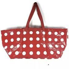 Ikea Red White Polka Dot Reusable Bag Large Tote Shopping Betsel Frakta