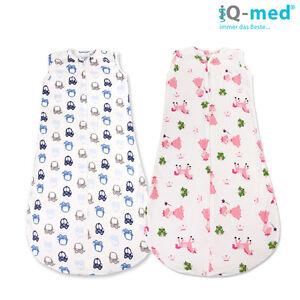 Baby Schlafsack von iQ-med® | Sommer, Fußsack, Swaddle, Pucksack, Babyschlafsack