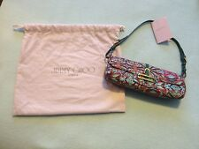 JIMMY CHOO EVENING WRISTLET CLUTCH BAGUETTE STYLE HANDBAG - BRAND NEW NEVER USED