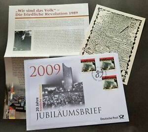 [SJ] Germany 20th Anniv Of Peaceful Revolution 2009 Church Chapels (postcard FDC