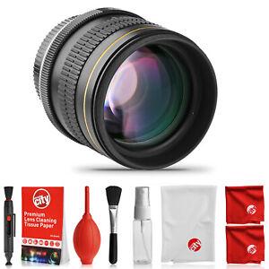 Opteka 85mm Lens for Nikon D5 D4 D7200 D7100 D5600 D5500 D5300 D3400 D810 D500