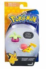 Action Figure Toy - Pokemon - Bounsweet VS Pikachu - 3 Inch - Plastic