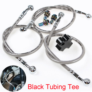 Motorcycle ATV Hydraulic Brake Hose Pipe Tee Connector 3-way Adapter Fitting Kit