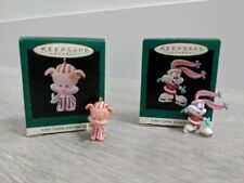 Lot 2 Tiny Toon Adventures Hallmark Miniature Keepsake Ornaments Babs & Hamton