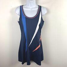 Bolle Womens Tennis Sleeveless Dress Sz M Red White  Blue Athletic Bulit In Bra