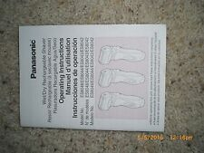 PANASONIC ES 8048 RECHARGEABLE WET/DRY SHAVER MANUAL / USERS GUIDE ONLY