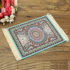 New Popular Persian Style Mini Woven Rug Mouse Pad Carpet Mousemat With Fringe