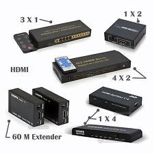 HDMI1.4/2.0 1x4 1X2 Splitter 4x2 3x1 4x1 Switch Matrix 4x2 Extender 60/120m