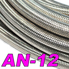 Stainless Steel Braided Hose (AN-12) Fuel/Oil/Water