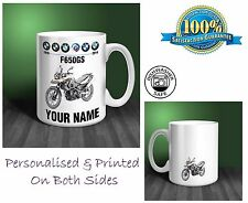 BMW F650GS Motorbike Personalised Ceramic Mug Gift (MB080)