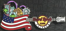 Hard Rock Cafe ORLANDO FL 2017 Core Country Flag Guitar Series PIN on CARD