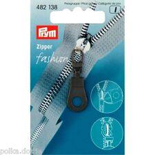 PRYM zipper pull remplacement Zip Pull Noir Oeillet noir zip extracteur avec œillets