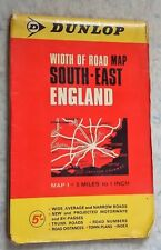 Vintage Dunlop Width of Road Map South-East England Map 1 - 5 miles to 1 inch