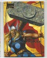 Marvel Masterpieces 2016 UPPER DECK JOE JUSKO GOLD SIGNATURE BASE #81 THOR
