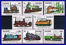 ZAIRE/DR CONGO 1980 TRAINS / LOCOMOTIVES MNH CV$11.10 RAILROADS, TRANSPORT