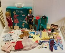 Vintage Tammy Doll & Ted With Tammy Telephone Case & Clothes & Accessories