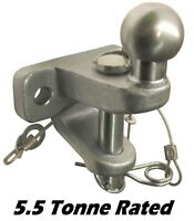 5.5 Tonne Universal Pin Ball Jaw Coupling 50mm Towball 5500kg Rated EC Approved