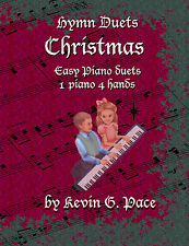 HYMN DUETS CHRISTMAS. SACRED BEGINNER PIANO. Christian, Pace Music, Gospel.