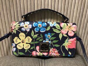 Authentic Dooney & Bourke Flower Leather Crossbody Bag