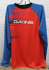 New Dakine Mens Dropout Long Sleeve Cycling Biking Jersey Large Red