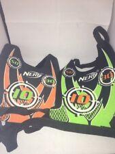 Set Of 2 Nerf Dart Tag VESTS Green Orange