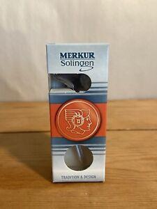 MERKUR Solingen Mustache Razor Chrome With Blade 907000 Short. New In Box