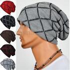 Unisex Women Men Knit Cap Winter Warm Ski Crochet Slouch Hat Oversized Beanie US