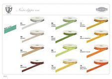 Nastro doppio raso 10 mm rotolo bobina da 50 mt vari colori fai da te bomboniera