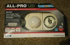 All-Pro Revolve 180-Degree 2-Head White LED Motion-Activated Flood Light Sensor