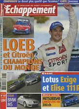 ECHAPPEMENT n°447 11/2004 Lotus Exige, Elise 111R, BMW M5, Lancer Evo VIII, ZR